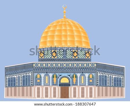vector mosaic  al aqsa mosque