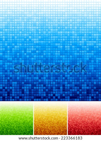 Vector mosaic background. Eps8. RGB. Global colors. Gradients used.