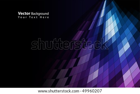 Vector mosaic colorful background - stock vector