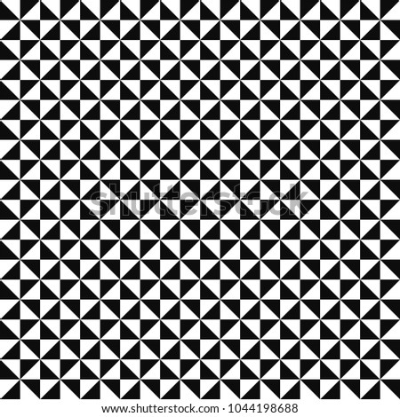 Vector mosaic pattern - black & white seamless background.