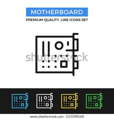 vector motherboard icon....