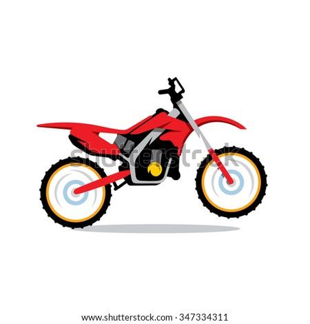 vector motocross bike cartoon