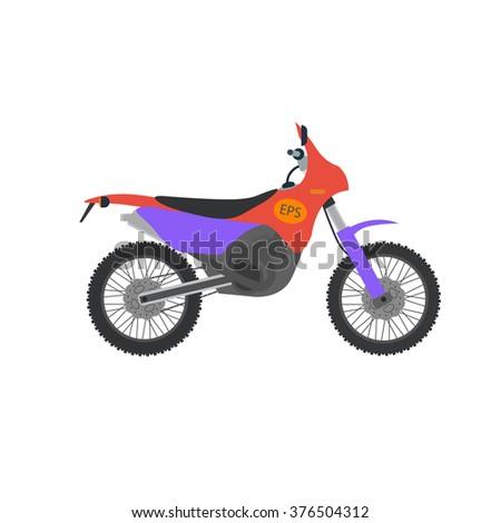 vector motocross bike