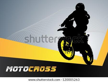 vector motocross clip art