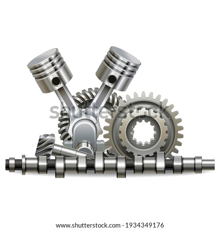 Vector Motor Parts Concept isolated on white background Foto d'archivio ©