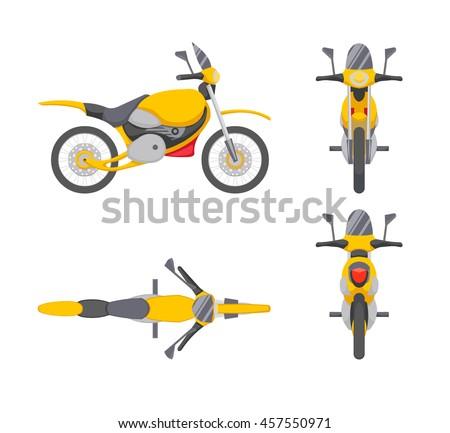 vector motorbike illustration