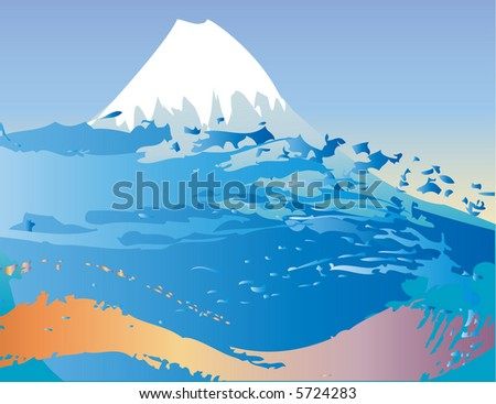 Vector Mountain and waves