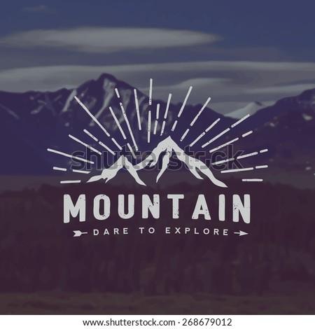 vector mountain exploration...