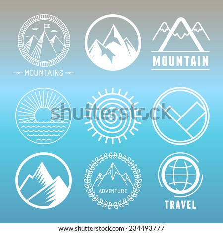 vector mountain logos and
