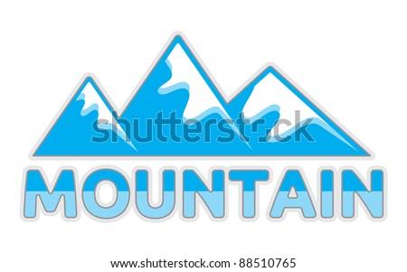 vector mountain sign