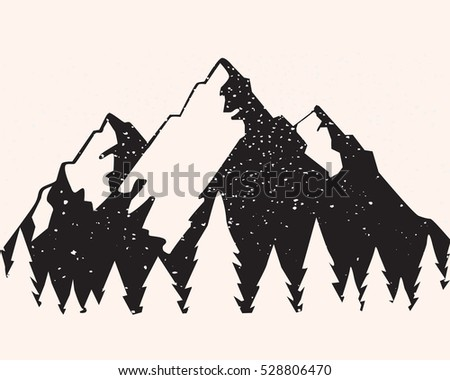 vector mountain with texture