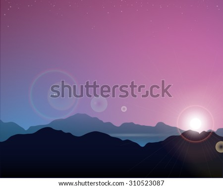 vector mountains background