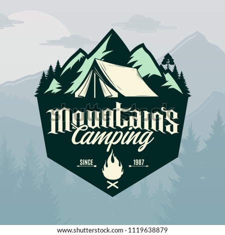 vector mountains camping and...