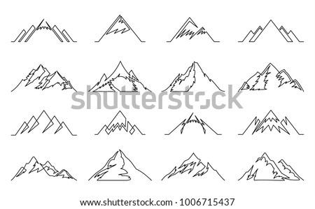 vector mountains continuous