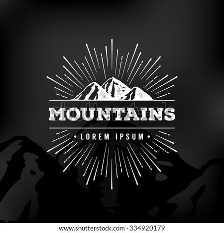 vector mountains emblem