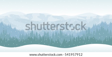 vector mountains forest