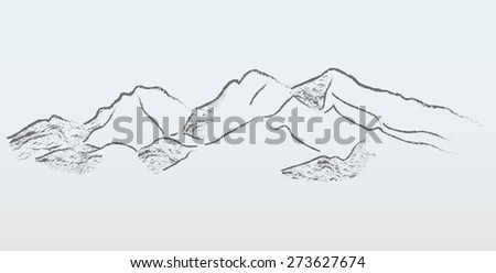 vector mountains panorama