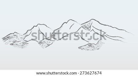vector mountains panorama