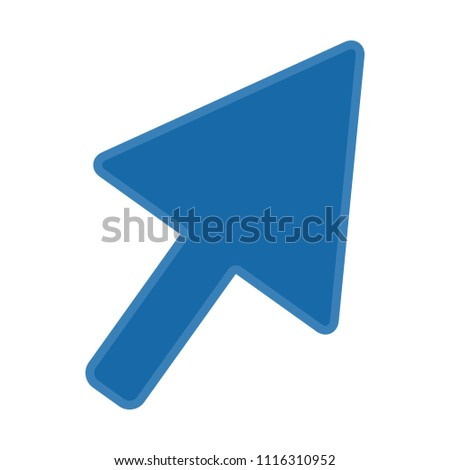 vector mouse cursor symbol - arrow click pointer illustration isolated