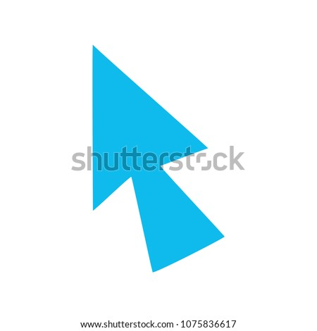 vector mouse cursor symbol - arrow click pointer illustration isolated, web communication icon
