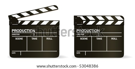 free clapper board vector, Powerpoint templates