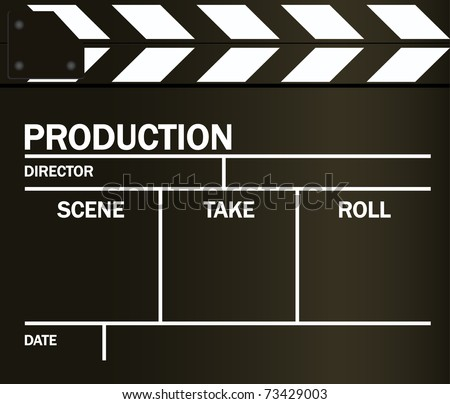 VECTOR movie clapper board