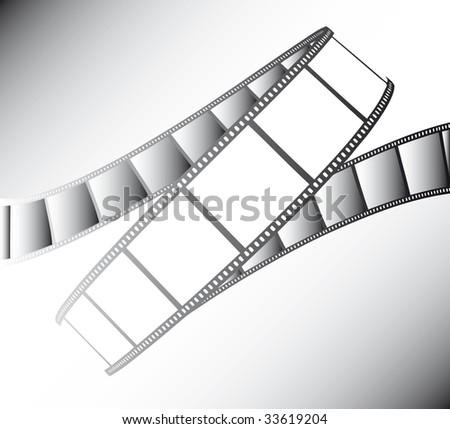 vector movie/photo film - illustration on gradient background
