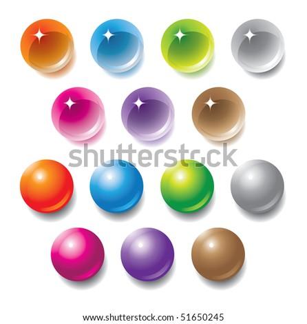 Vector multicolored orbs for design