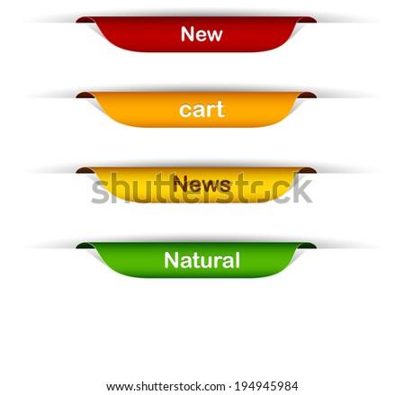 vector multicolored paper