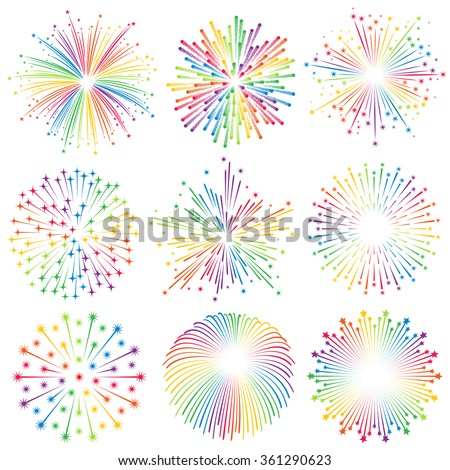 vector multicolored with