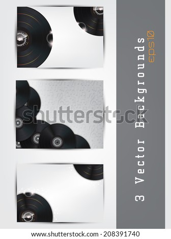 Vector music background set with vinyls and space for your text (EPS10 Vector) #208391740