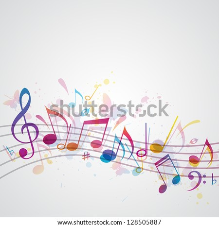 vector music background with