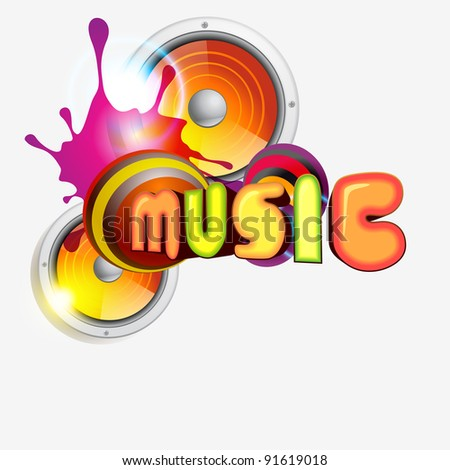 vector music colorful illustration design