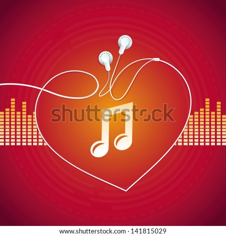 vector music concept   abstract
