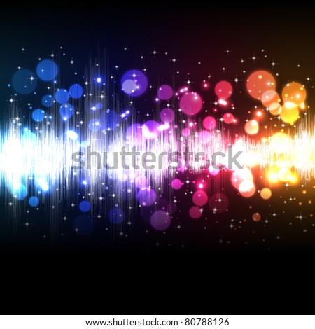 Vector music equalizer wave