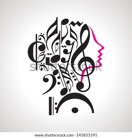 vector music head