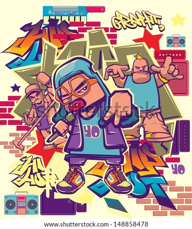 vector music hip hop and rock