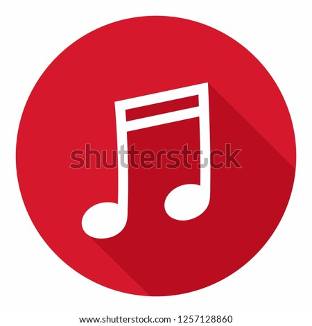 Vector music icon sign melody. Illustration of melody symbol in flat style.