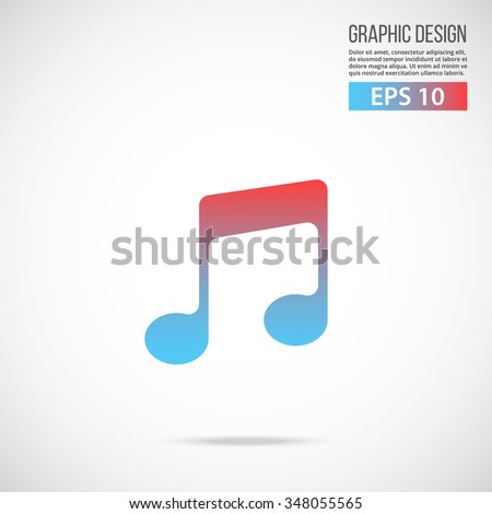 Vector music icon. Special edition. Trendy flat design vector illustration, quality concept for web banners, web and mobile applications, infographics. Vector icon isolated on gradient background