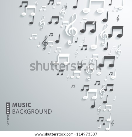 vector music note background