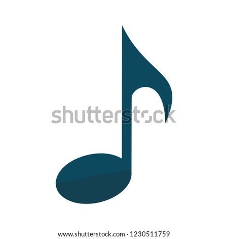 vector music note isolated icon - artistic melody illustration sign . musicnotes  sign symbol