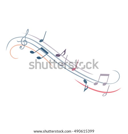 vector music note melody