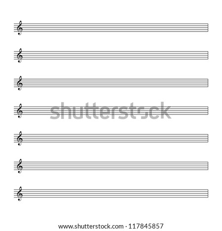 Vector music notes.