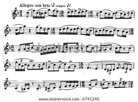 vector music score background