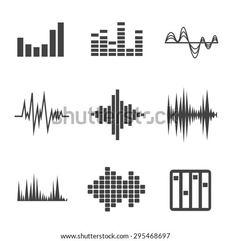 vector music sound wave icon