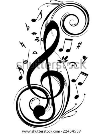 Vector music theme