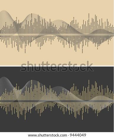 vector music wave- vector