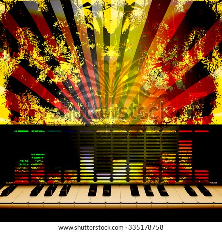 vector musical background piano
