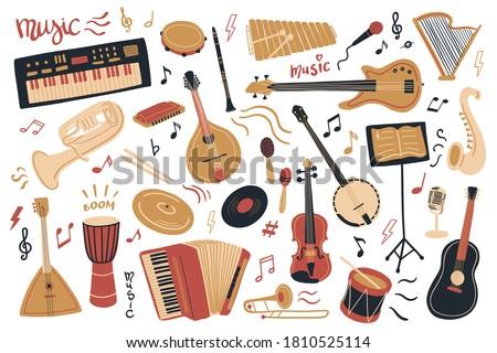 vector musical instrument set
