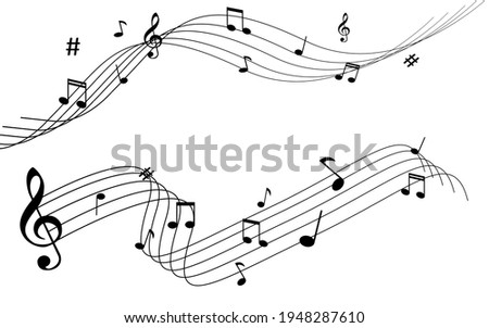vector musical notation note melody illustration Photo stock ©